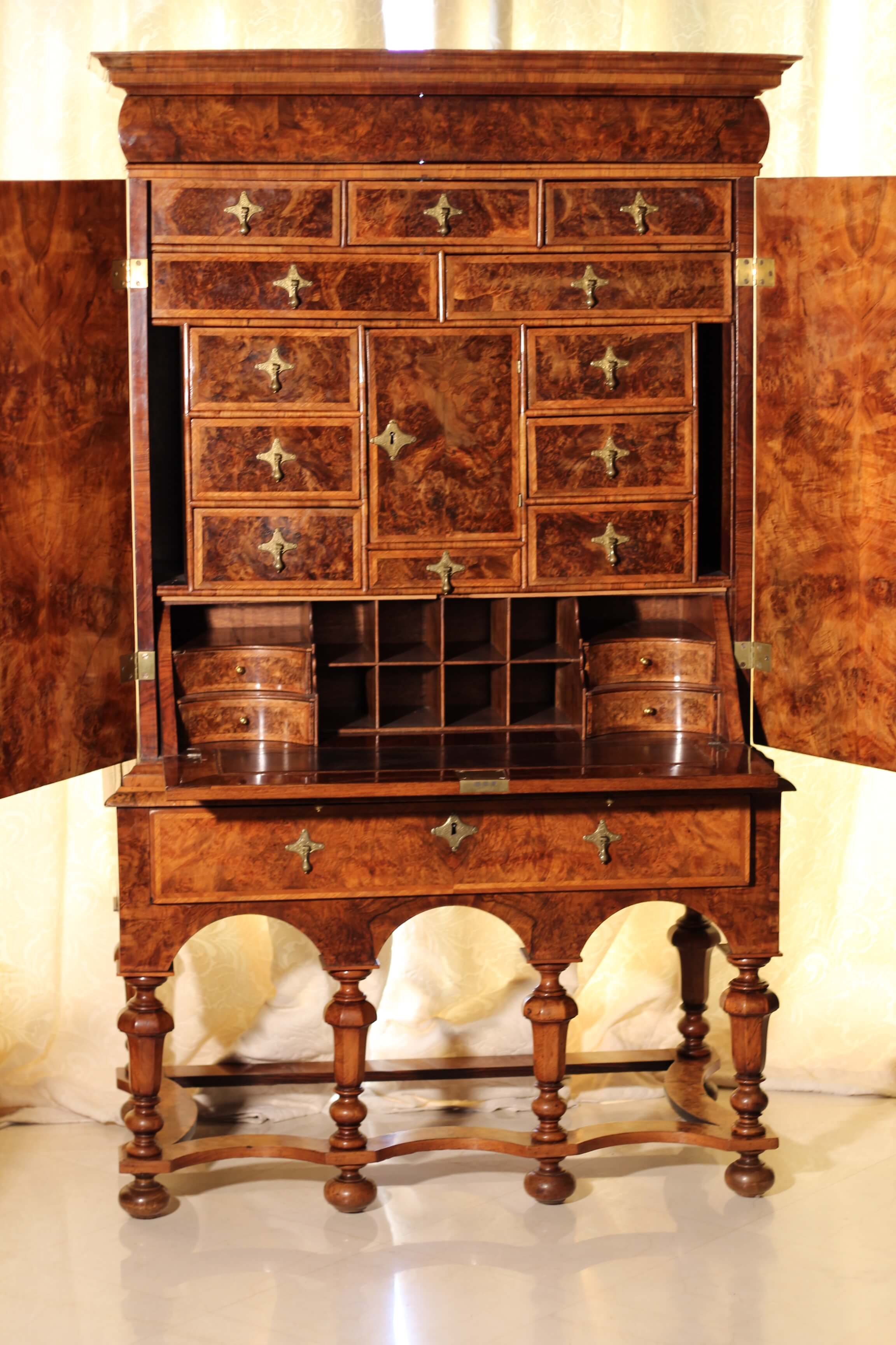 Cabinet on Stand-  William and Mary-XVII –